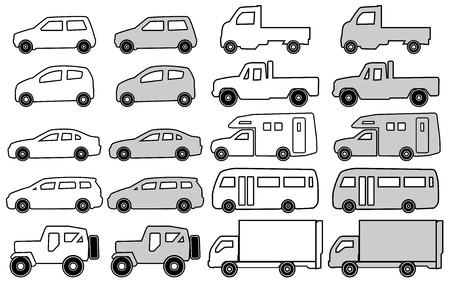 Monochromatic pictogram of the car Vector