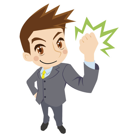 clench: Cheerful businessman Illustration