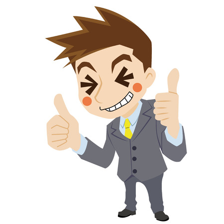 praise: Businessman to praise Illustration