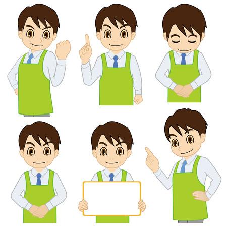Movement of male salesperson