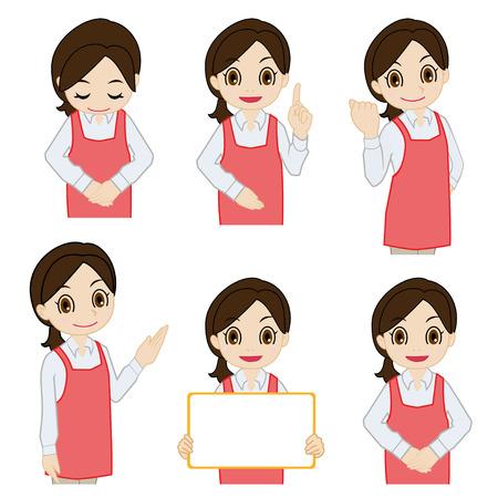 salesperson: Movement of female salesperson Illustration