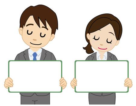 satisfied: Satisfied office worker Illustration