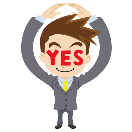 affirm: businessman who says yes