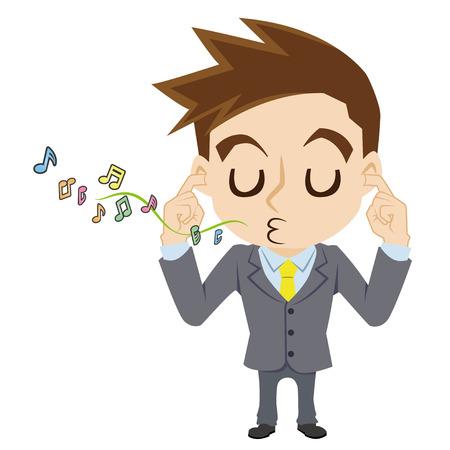 ignore: Calm businessman