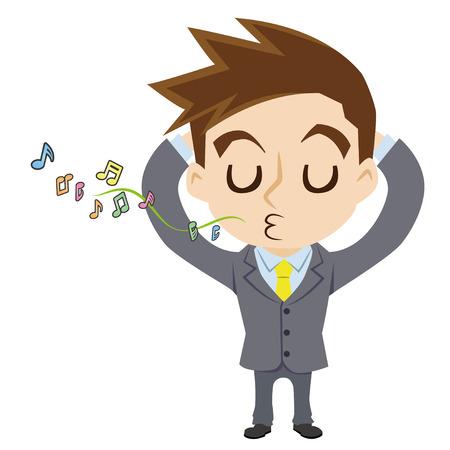 blithe: Carefree businessman