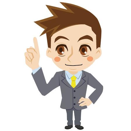 interpret: businessman who explains