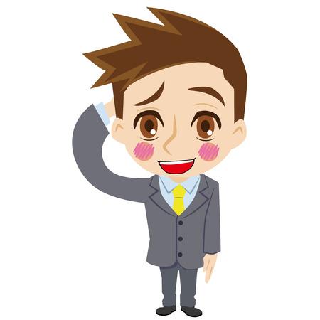 bashful: Bashful businessman