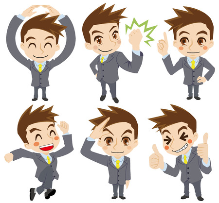 Movement of the businessman Vector