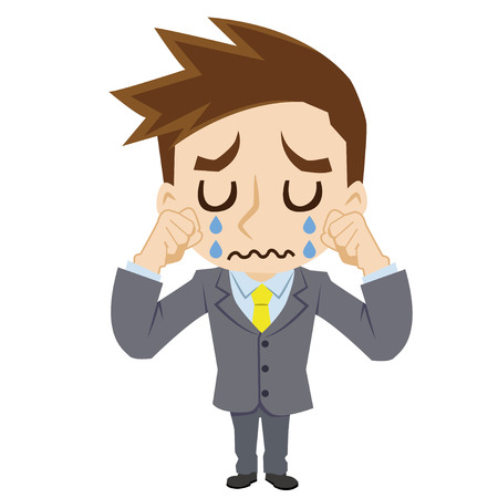 cries: businessman who cries