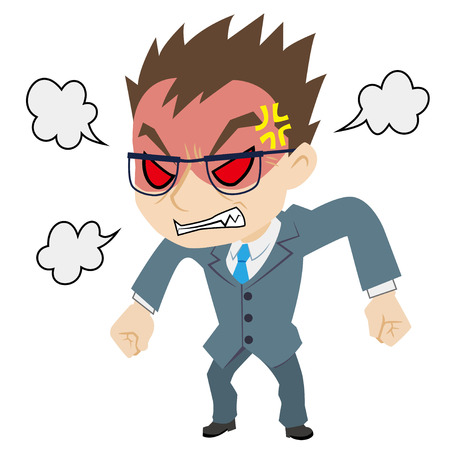 angry boss: The angry boss Illustration