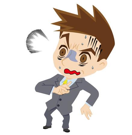 businessman who looks pale Illustration