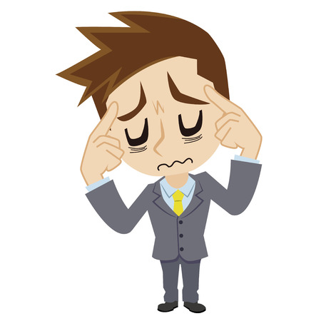 is troubled: businessman who is troubled Illustration