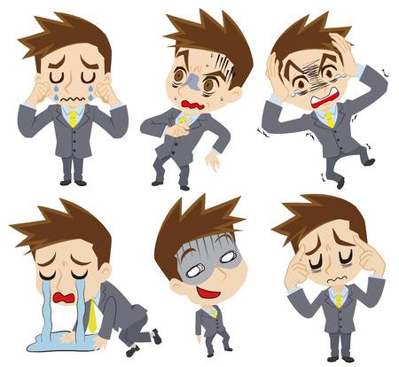 tremble: Negative feelings of the businessman