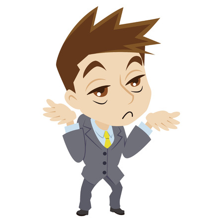 disgusted: businessman who is disgusted Illustration