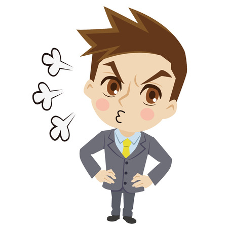 displeased businessman: Displeased businessman Illustration
