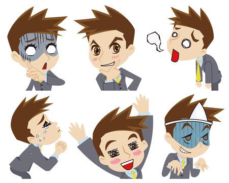 implore: Exaggerated businessman Illustration