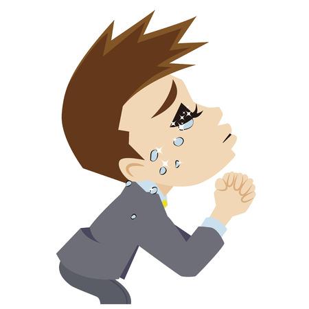 implore: businessman who prays