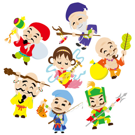 seven Deities of Good Fortune (random)