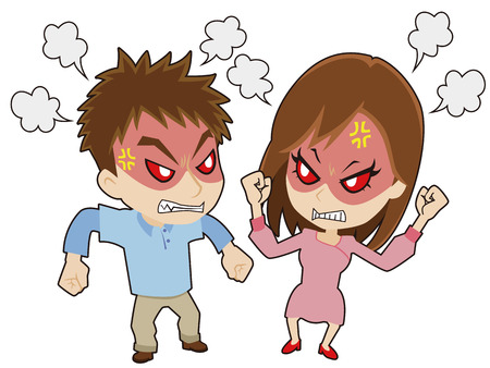 young couple who disputes