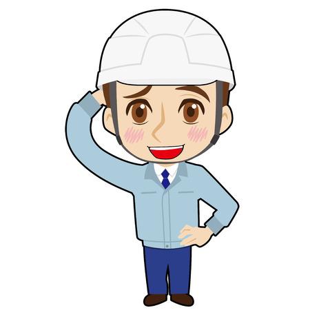 Bashful worker Illustration