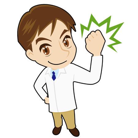 clench: Cheerful pharmacist Illustration