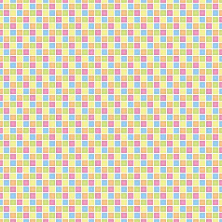 (カラフル) グリッドの正方形  イラスト・ベクター素材