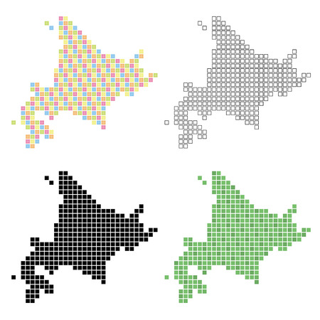 hokkaido: pixel art of Hokkaido
