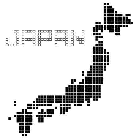 pixel art of Japan (black)
