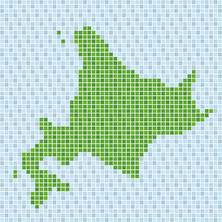 hokkaido: pixel art of Hokkaido (nature)