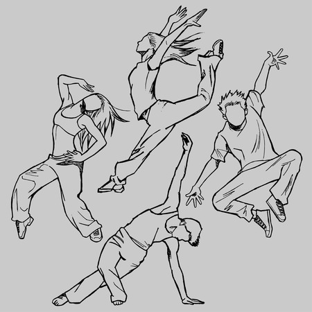 jazz dancer: Sketching of the jazz dancer line