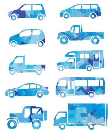 bright future: Blue silhouette of car