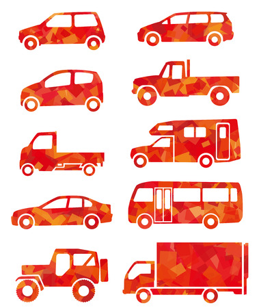 back to the future: red silhouette of car Illustration
