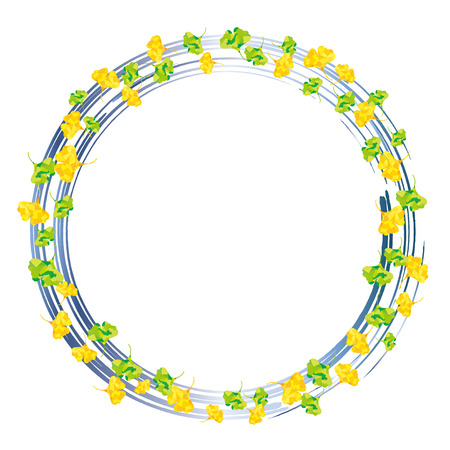 encircle: Ring of ginkgo blue