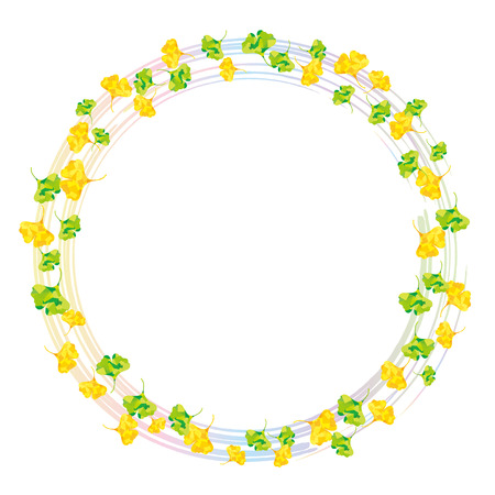 encircle: Ring of ginkgo rainbow Illustration