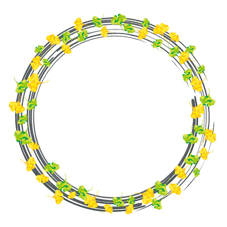encircle: Ring of ginkgo silver