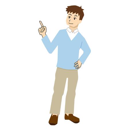 to interpret: man who explains Illustration