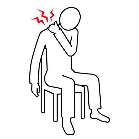 Piktogramm Schultersteife