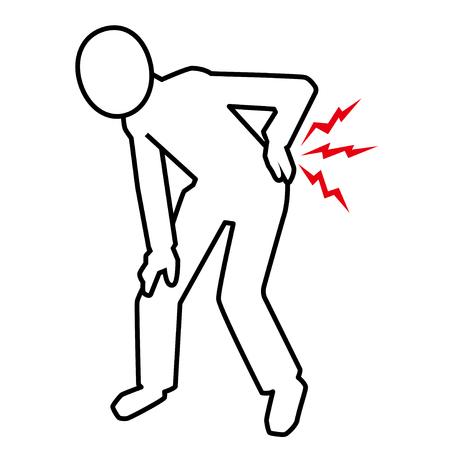 lumbago: pictogram of backache