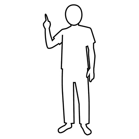 recommend: pictogram of person who explains (T-shirt)