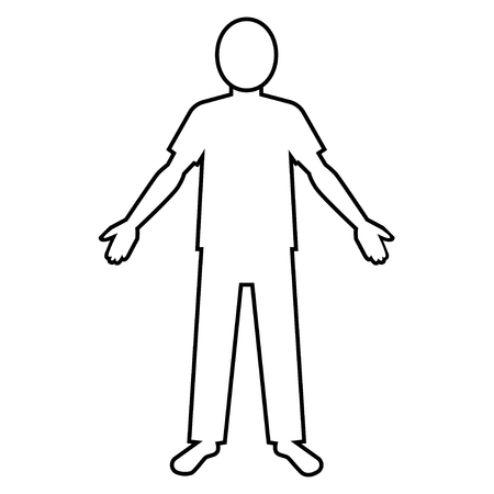 both: pictogram of person who opens both arms (T-shirt)