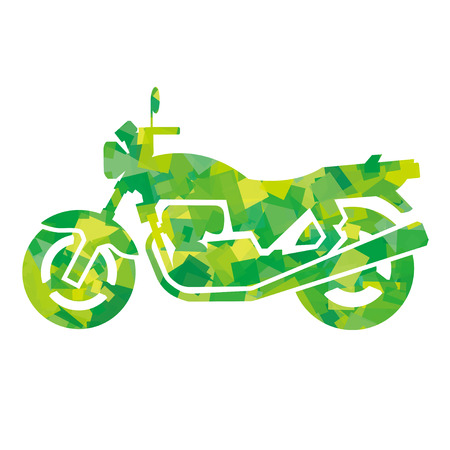 yellowish: silhouette of motorcycle (green)