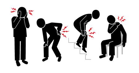 mark of pain Illustration