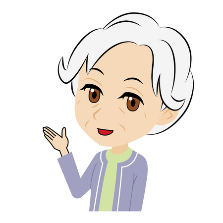old woman who introduces