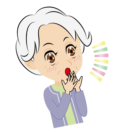 old woman who gets surprised and pleased
