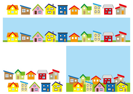 row of a simple house-color-