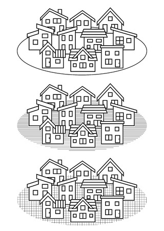 deform: simple residential area-line drawing-