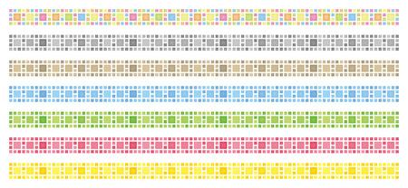 Decorative line of square (gap version)