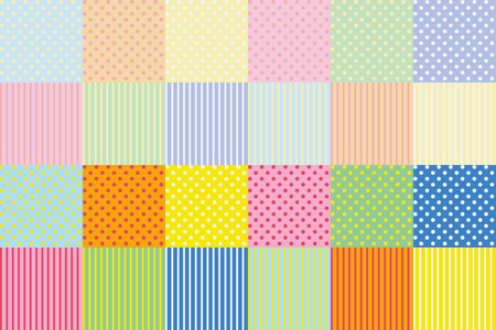 texture set polka-dot and stripe - colorful version - to use it for a small object