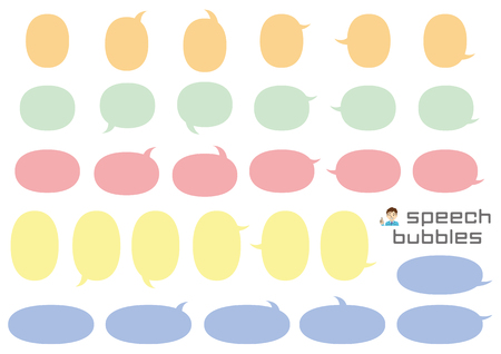variety speech bubbles of ellipse - only color -