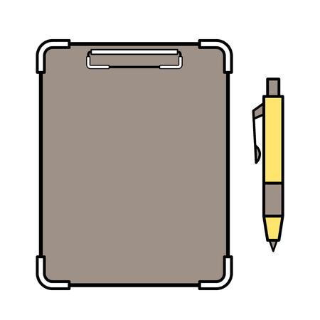 binder and ballpoint pen Stock Illustratie